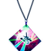 Suzywan Deluxe Galactic Cat Necklace Galaxy