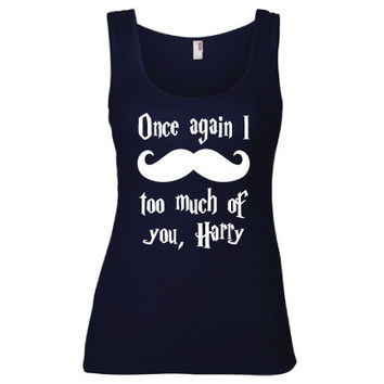 Harry Potter Inspired Clothing - I Mustache Too Much of You Harry Semi-Fitted Tank - Ladies