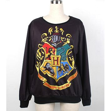 New Arrival 1041 Fashion Women Girl HP Gryffindor Hogwarts School 3D Print Sweatshirt Polyester Suit Outside Workout Hoodies