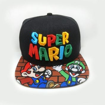 Trendy Winter Jacket Super Mario Baseball Cap Fashion Men Women Anime Cosplay Funny Hat Casual Outdoor Hip Hop Caps Bones Men's Hat Snapback Hats AT_92_12