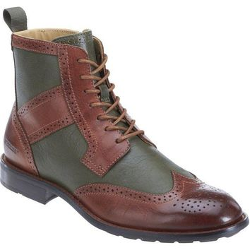 Sebago Dresden WingTip Green/Chestnut Men's Boot