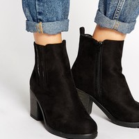 New Look Dolly Block Heel Chelsea Boots