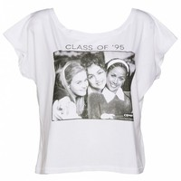 Women's Clueless Movie Cast Oversized Cropped T-Shirt