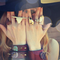 ARROWHEAD RINGS /// Electroformed Gemstones /// Gold or Silver