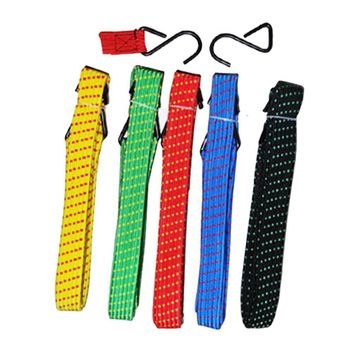2m Elasticity Motorcycle Bicycle Tied Rope Bicycle Bandage Baggage Wrapped Belt Wrapped In Binding Luggage Lashing Random Color