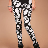 Skull Daze Leggings | Edgy Leggings at Pink Ice