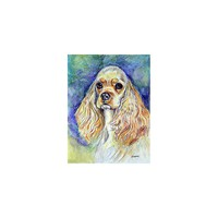 Caroline's Treasures Blonde Tan Cocker Spaniel House Flag