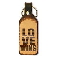 Love Wins Leather Keychain