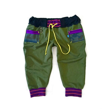 Olive Drab Camo Pocket Dance Pants