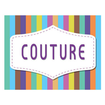 Logotype - Colourfull logo for sewing or embroidering business or shop.