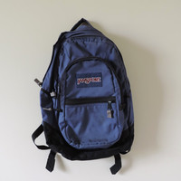 Adult Vintage Navy Blue Jansport Bookbag Backpack