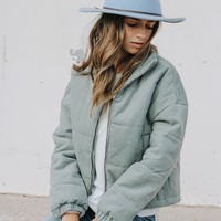 Byron Quilted Puffer Jacket (Sage)