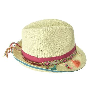 Trilby - Natural Straw