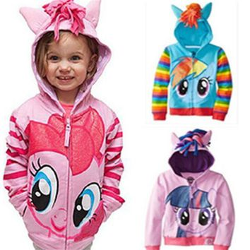 Anime Cartoon My Girl Little Pony Cosplay Unicorn Kid Costumes Halloween Christmas Party Clothes Kids Hoodies