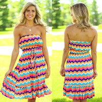 Call Me Crazy Chevron Dress