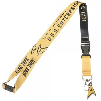 Star Trek Yellow Lanyard