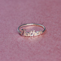 Name Ring - Word Letters - Mom Gift  -  Sterling Silver