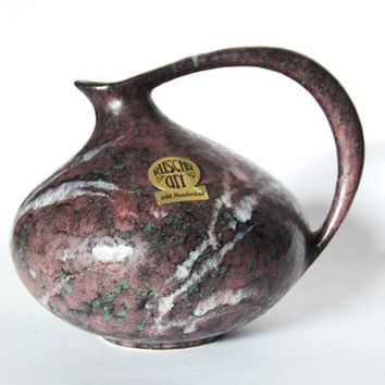 Vintage Rare Purple Green Lava Pitcher Ruscha 313  70s