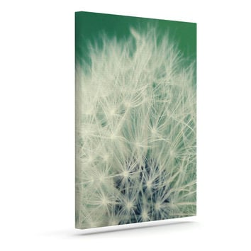 """Angie Turner """"Fuzzy Wishes"""" Green White Outdoor Canvas Wall Art"""