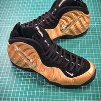 Nike Air Foamposite Pro Metallic Gold 624041-701 Sport Basketball Shoes - Best Online Sale