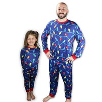 Matching Christmas Lights Pajamas for kids, adults, women, men, boys, girls