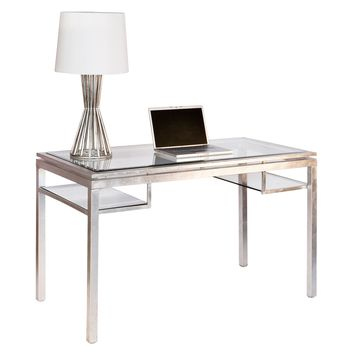 Brentwood Desk in Silver Leaf
