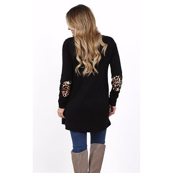 Leopard Elbow Patch Tunic | S-XL