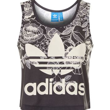 Floral Cropped Tank Top by Adidas Originals | Topshop