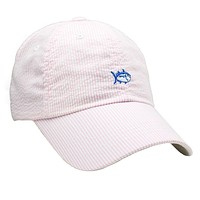 Mini Skipjack Hat in Pink Seersucker by Southern Tide