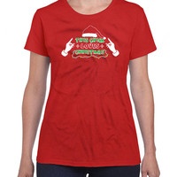 Funny Christmas Shirt This Chick Loves Christmas Gifts For Christmas Holiday Tops Xmas Present Xmas Gifts Presents For Her Ladies Tee DN-304