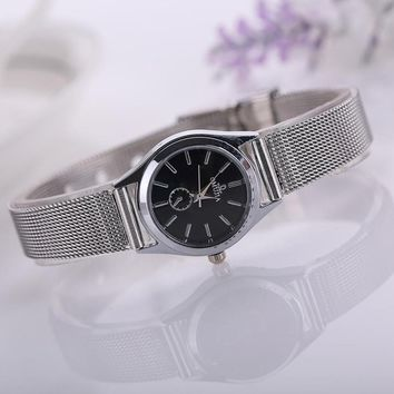 Omujia Silver Alloy Watch
