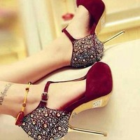 burgundy heels - Google Search