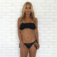 Ruffle Me Bikini Set In Black