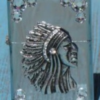 indian cowgirl lighter with crystals | Elusive Cowgirl