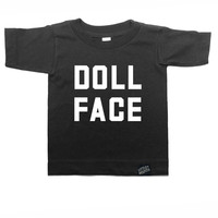 Doll Face - Monochrome Kid T-shirt - Black or White
