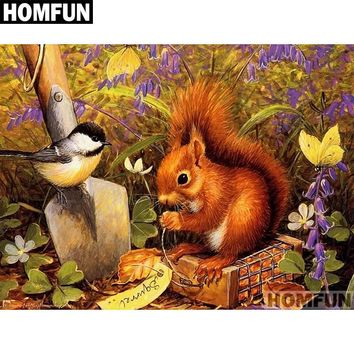 5D Diamond Painting Squirrel and The Bird Kit