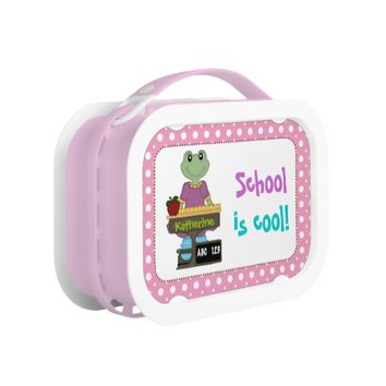 School is cool! Frog girl Back to school photo Lunchboxes