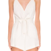 Finders Keepers HERE WE GO PLAYSUIT WHITE - BNKR