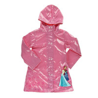 Disney Girls Anna Elsa Frozen Raincoat