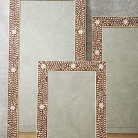 Bone Inlay Mirror by Anthropologie in Brown Size: