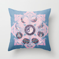 Trippy Throw Pillow by Sara Eshak