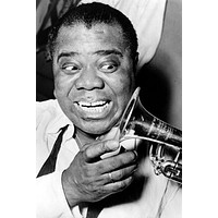 Louis Armstrong Poster 11 inch x 17 inch poster