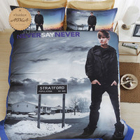 Justin Bieber 3D Bedding Set  Print Duvet cover set Twin full queen king 3/4pcs  lifelike bed sheet linen