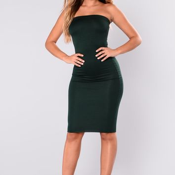 Anna Dress - Hunter Green