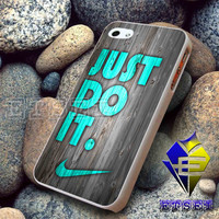 NIKE Just do it wood colored mint darkwood For iPhone Case Samsung Galaxy Case Ipad Case Ipod Case