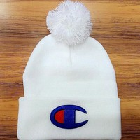''Champion'' Women Men Winter Knitted Cap