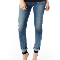 A Gold E Chloe Low Rise Slim Jeans
