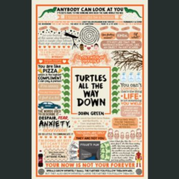 DFTBA - Turtles All The Way Down Collage Poster