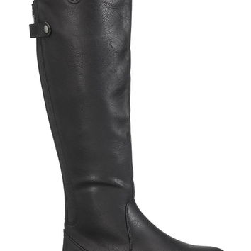 tonya riding boot with back zipper and gore in black