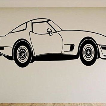 Corvette Race Car Auto Wall Decal Stickers Murals Boys Room Man Cave